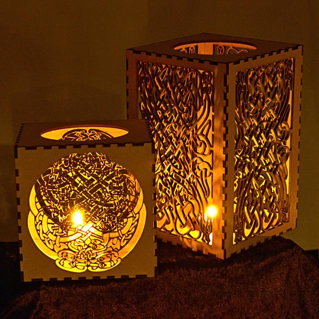Candle Lantern With Celtic Knot Pattern The Serpent Or